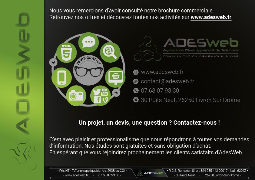 Coordonnées de l'agence de communication graphique et web adesweb à Livron-Sur-Drome