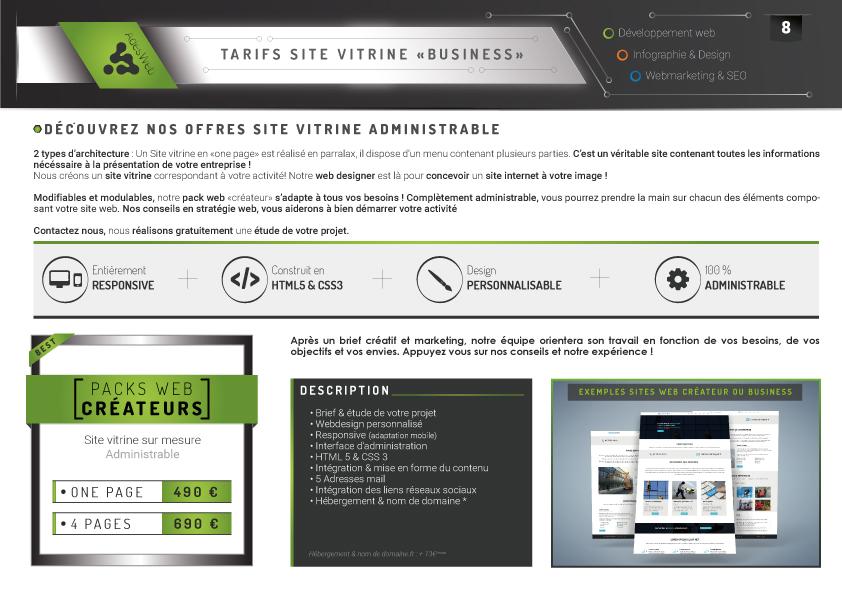 Tarifs pack web - création de site internet pas cher