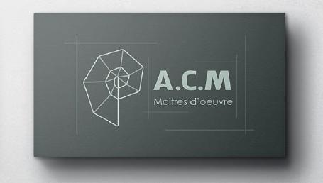 Version noire de la création de carte de visite pour architecte et maitre d'oeuvre - Book studio graphique