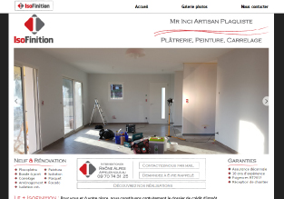 Réalisation site internet pour Isofinition - Portfolio agence de communication web