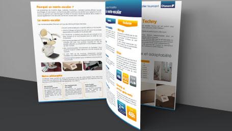 Réalisation graphique d'une plaquette commerciale et d'une identité visuelle pour entreprise